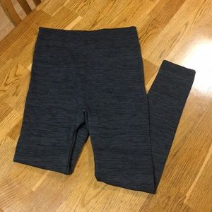 Pants - NWOT Grey and Black High Waisted Fleece Leggings